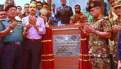 Foundation stone of foot overbridge...