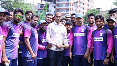 Prime Bank players and officials stand by Rubel