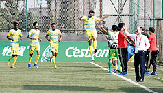 Abahani start AFC campaign with Manang...