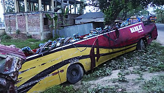 5 killed as bus overturns in...