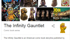 Google 'Thanos,' click the Infinity Gauntlet icon right now