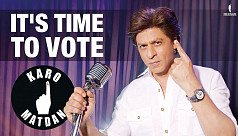 Shah Rukh Khan raps to urge people to vote in the Lok Sabha elections