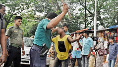 Police beat juvenile for stealing...