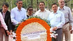 India's defence secretary pays tribute to Bangladesh language martyrs