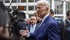 Biden jokes about hugging in first speech...