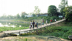 When a bamboo bridge becomes the only...