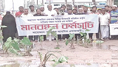 Residents plant saplings on Chittagong...