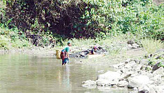 Hill streams in Chittagong Hill Tracts...
