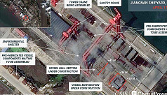 Analysts: Images show construction on...