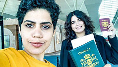 Runaway Saudi sisters leave Georgia to start new life