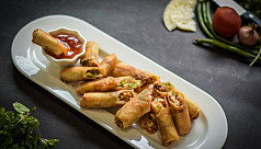 ​​​​​Grilled chicken and cheese spring rolls