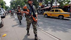 Soldiers patrol India's Kolkata after...