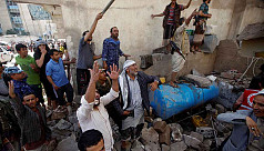 Saudi-led coalition in Yemen strikes...