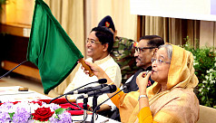 PM flags off new train on Dhaka-Panchagarh...