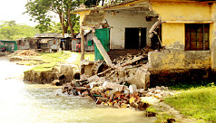 River erosion in Jhalokati worsens because...
