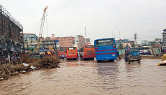 Waterlogged Dhaka-Mymensingh highway interrupts traffic movement