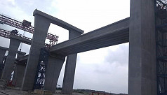 Second railway span on Padma Bridge...