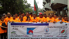 Japan WC Rugby Rally held in Dhaka