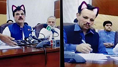 Pakistan politician does livestream with cat whiskers, ears