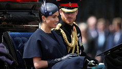 Prince Harry, Meghan attend military...