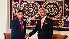 Foreign minister meets Indian counterpart,...