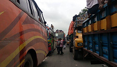 Eid journey: 20km tailback on Dhaka-Tangail highway