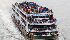 Overcrowded launches at Sadarghat...