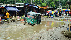 Comilla road brings commuter woes