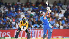 Sharma hits record fifth World Cup ton...