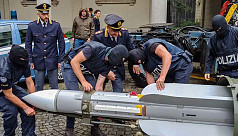 Italy seizes air-to-air missile, guns...
