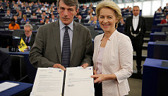 Ursula von der Leyen elected first female...