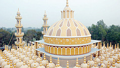 Tangail's enormous 201-dome mosque becomes centre of attraction