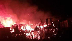 Massive fire in Rangamati