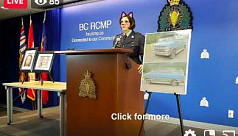Canadian police livestreams press conference...