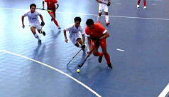Indoor hockey team beaten comprehensively...