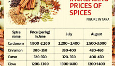 Spice prices rise steadily ahead of...