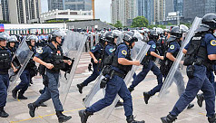 Chinese police drill video raises Hong...