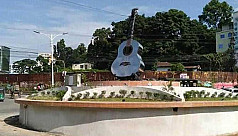 Guitar statue in memory of Ayub Bachchu...
