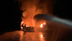 33 unaccounted for after burning dive...