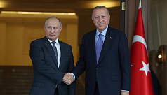 Putin, Erdogan discuss conflicts in...
