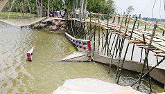 Collapse of poorly constructed bridge inconvenience locals in Tangail