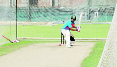 Tamim back in practice after...