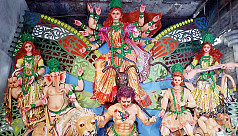 Durga Puja preparations in full...
