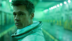 Brad Pitt interviews NASA astronaut in zero-gravity