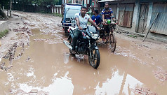 Potholes in roads pose risk to Khulna...
