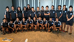 Girls win first practice match