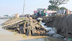 River erosion strikes Chandpur...