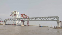 Padma Bridge's 15th span installed: 2250 meters now evident