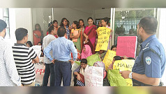Protest held at CU female hall over...