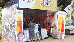 Stall of humanity at Durga Puja